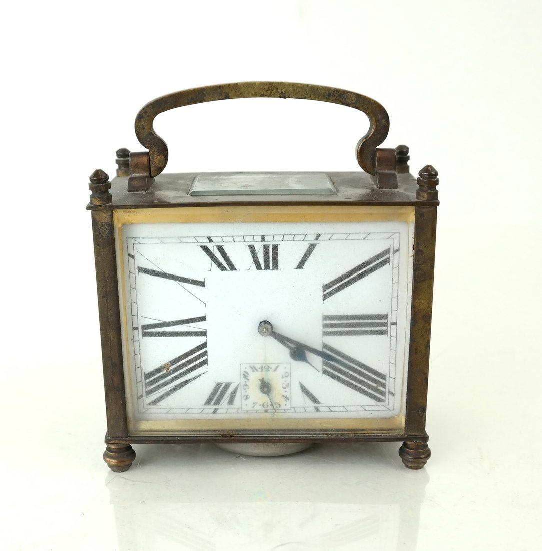 Art Deco-Style Miniature Desk Clock - 2