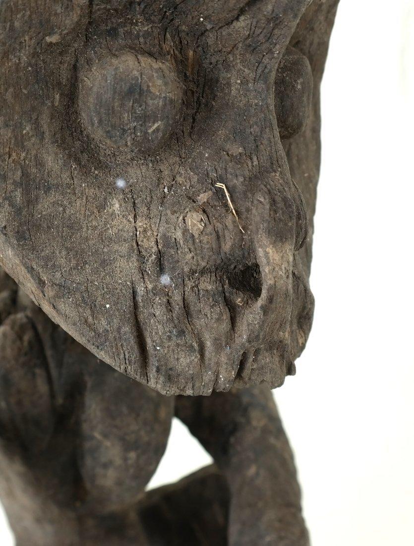 Ethnic Wood Carved Sculpture - 7