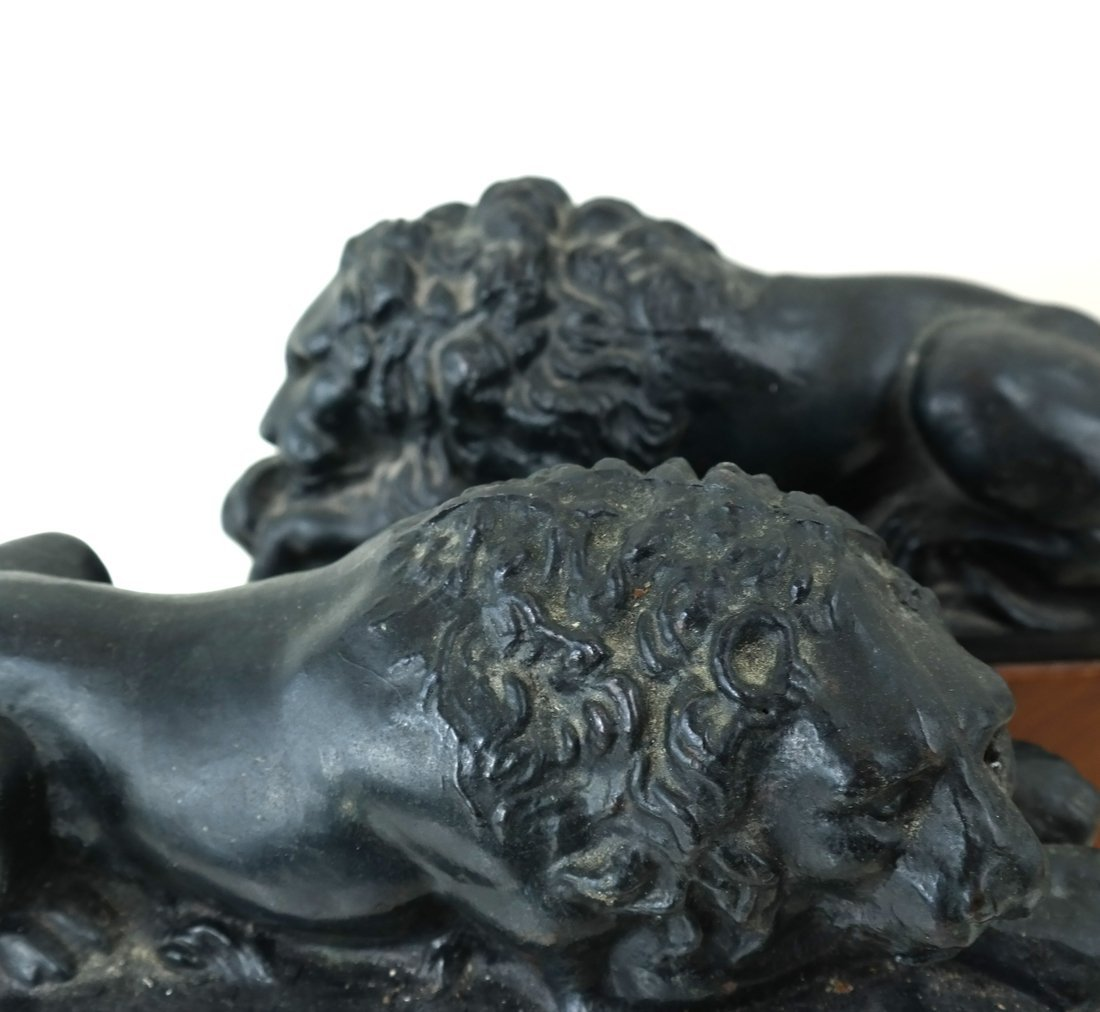 Pair of Recumbent Lion Bookends - 5