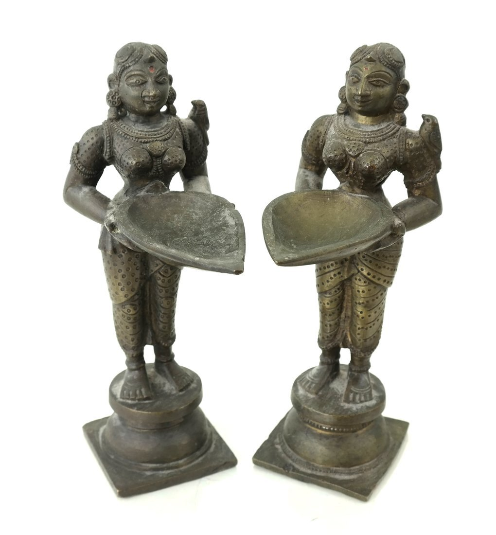 Pair of Figural Card Holders