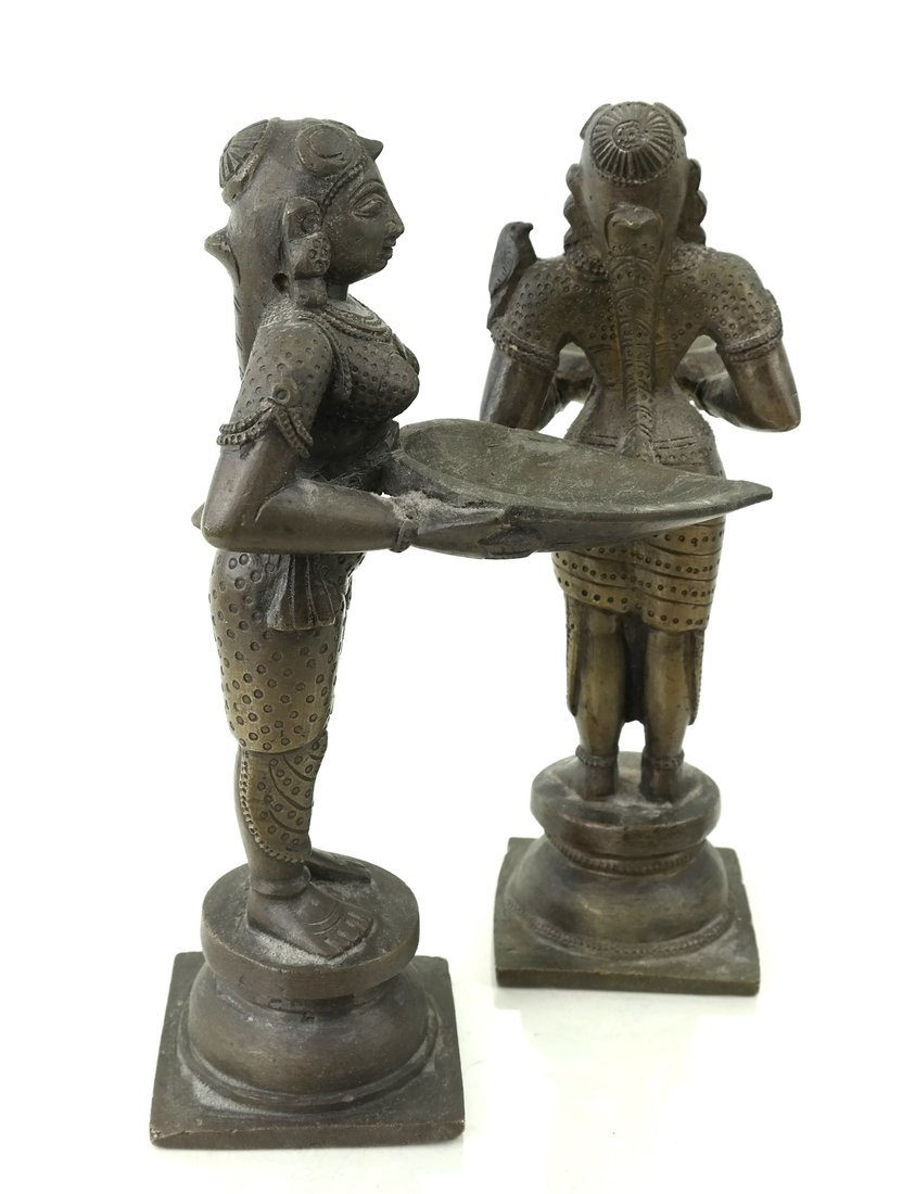 Pair of Figural Card Holders - 2