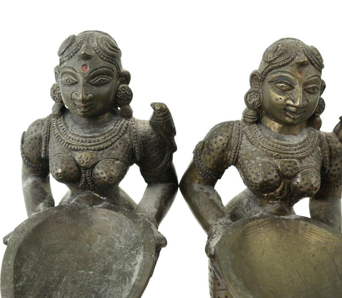 Pair of Figural Card Holders - 3