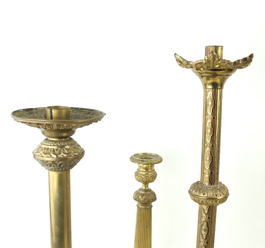 Three Brass Candlesticks - 2