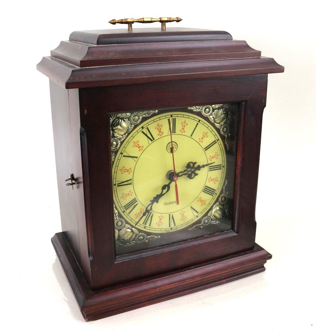 Japanese Wood Mantle Clock