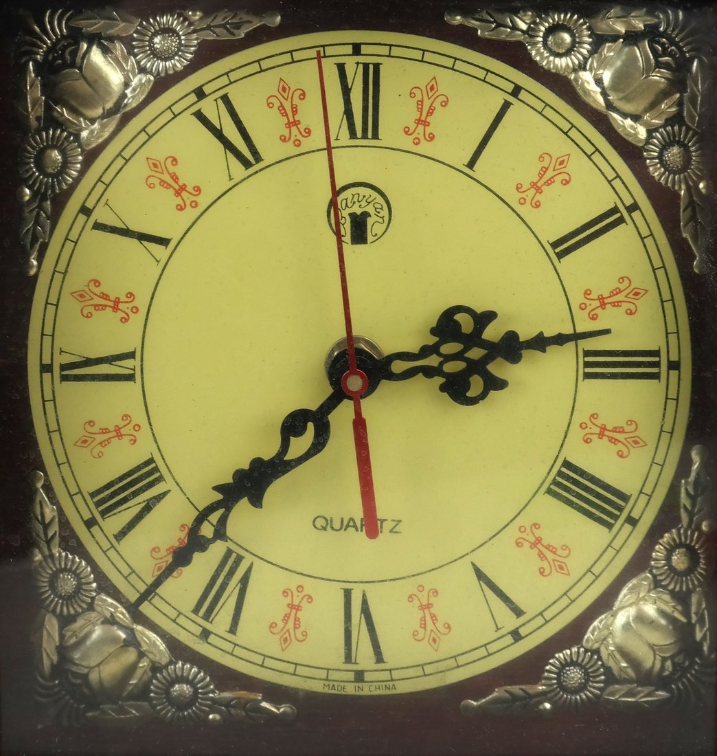 Japanese Wood Mantle Clock - 2