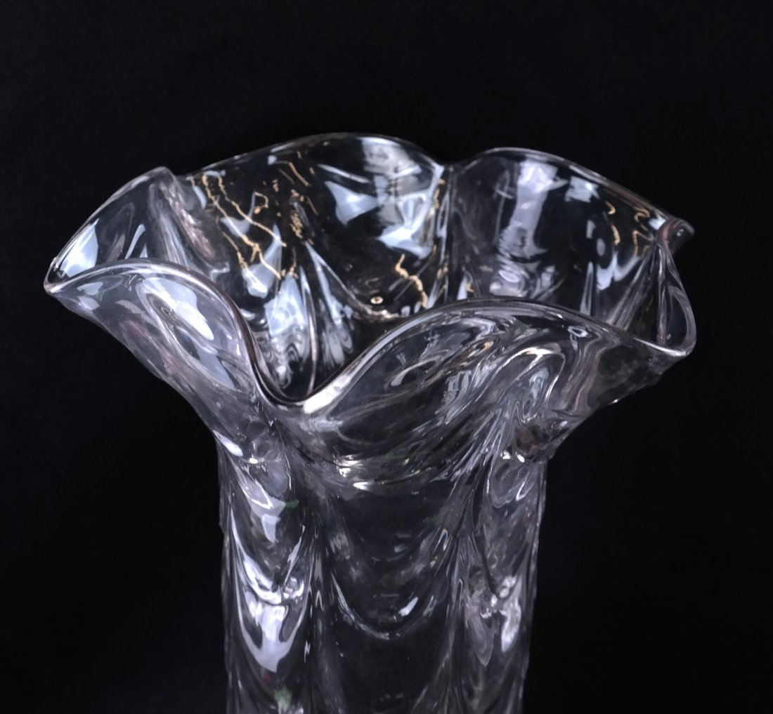 Clear Drapery-Style Vase - 2