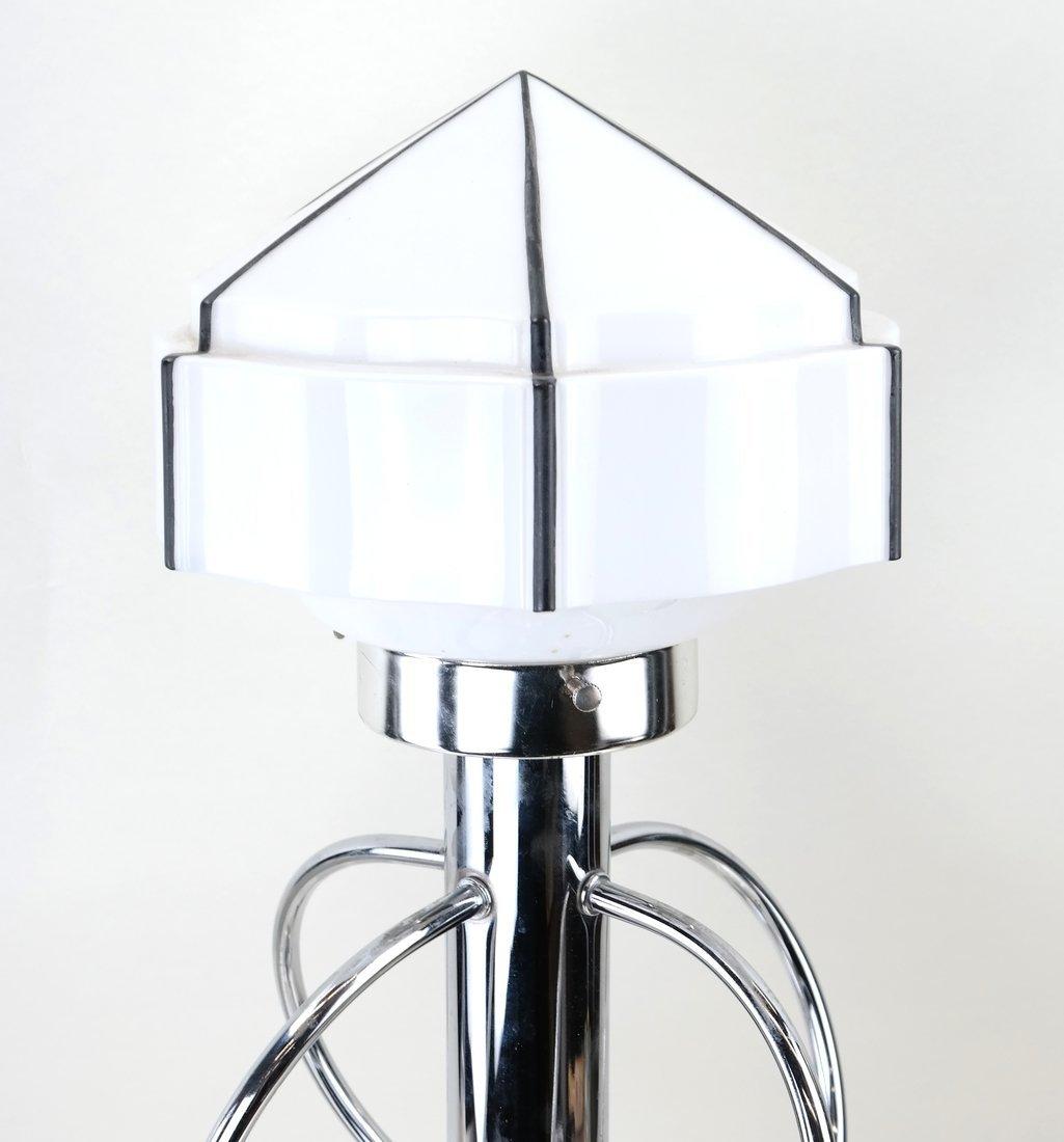 Modern Open-Work Chrome Lamp - 3