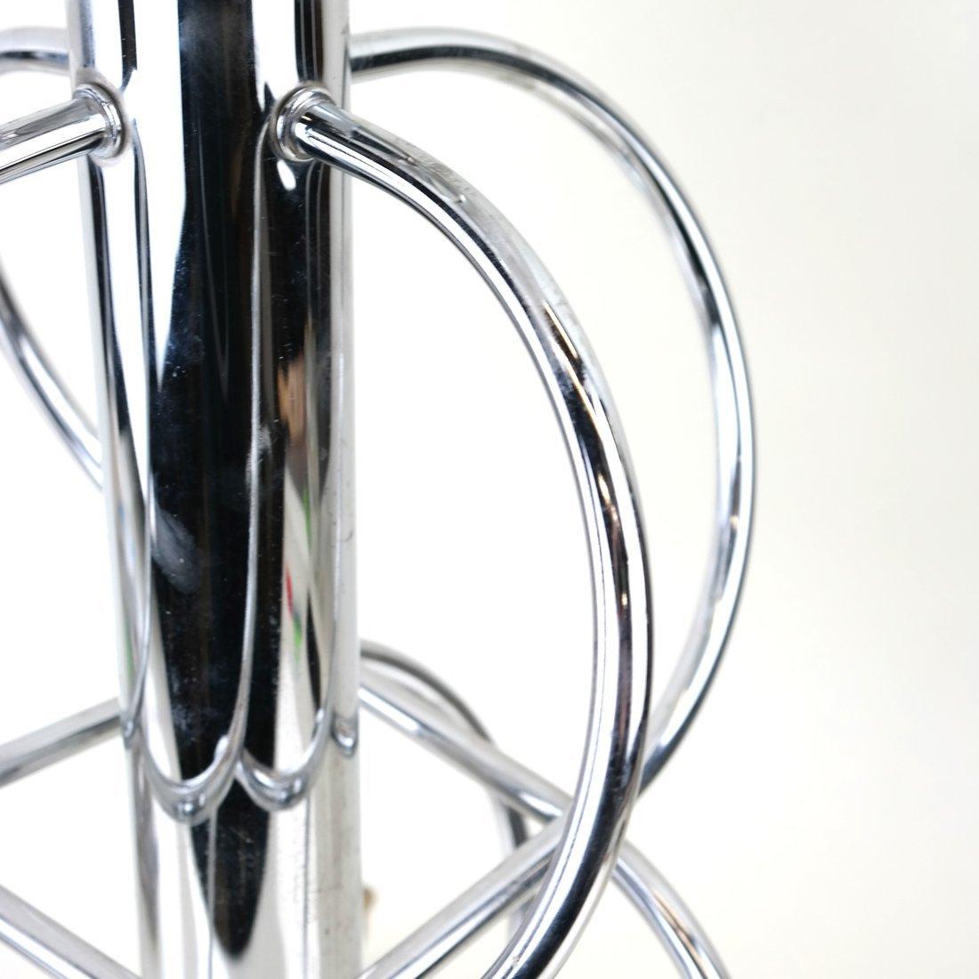 Modern Open-Work Chrome Lamp - 5