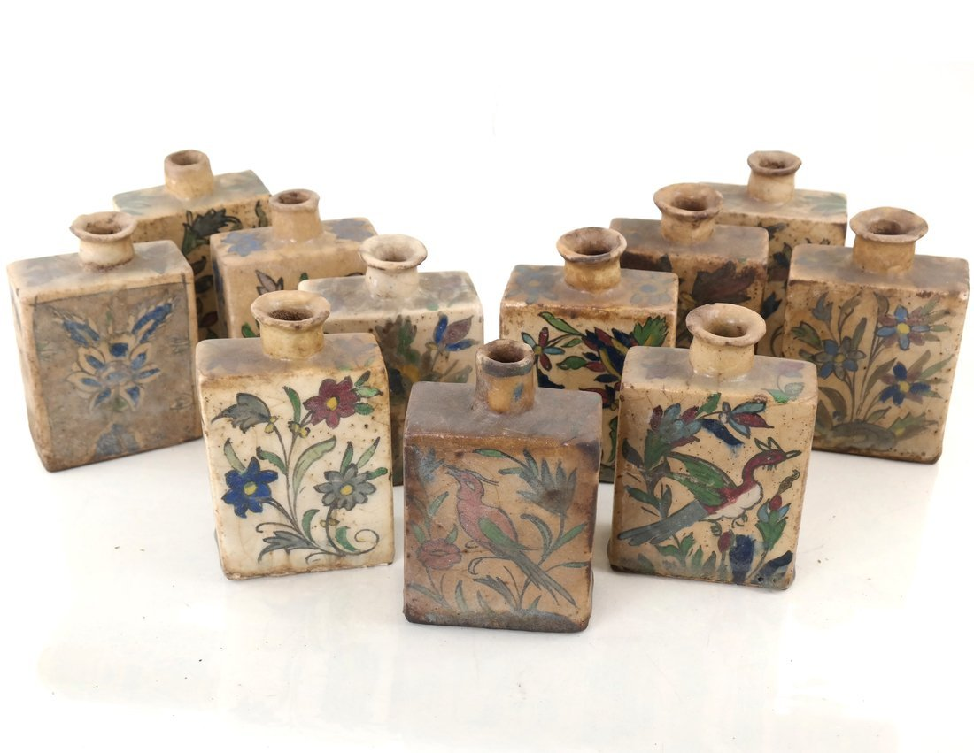 Ten Ceramic Decorated Canisters