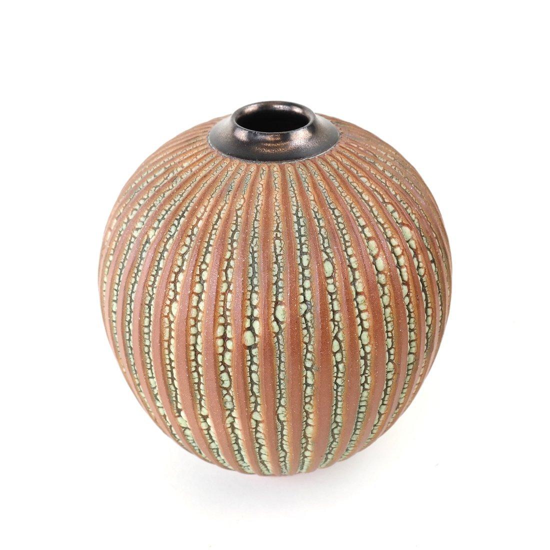 A Ceramic Ribbed Vase - 2