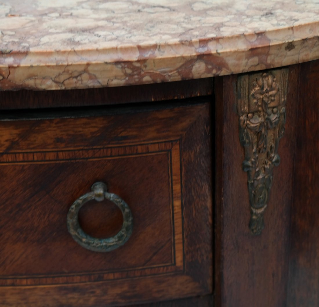 Pair Louis XV-Style Marble Top Commodes - 6