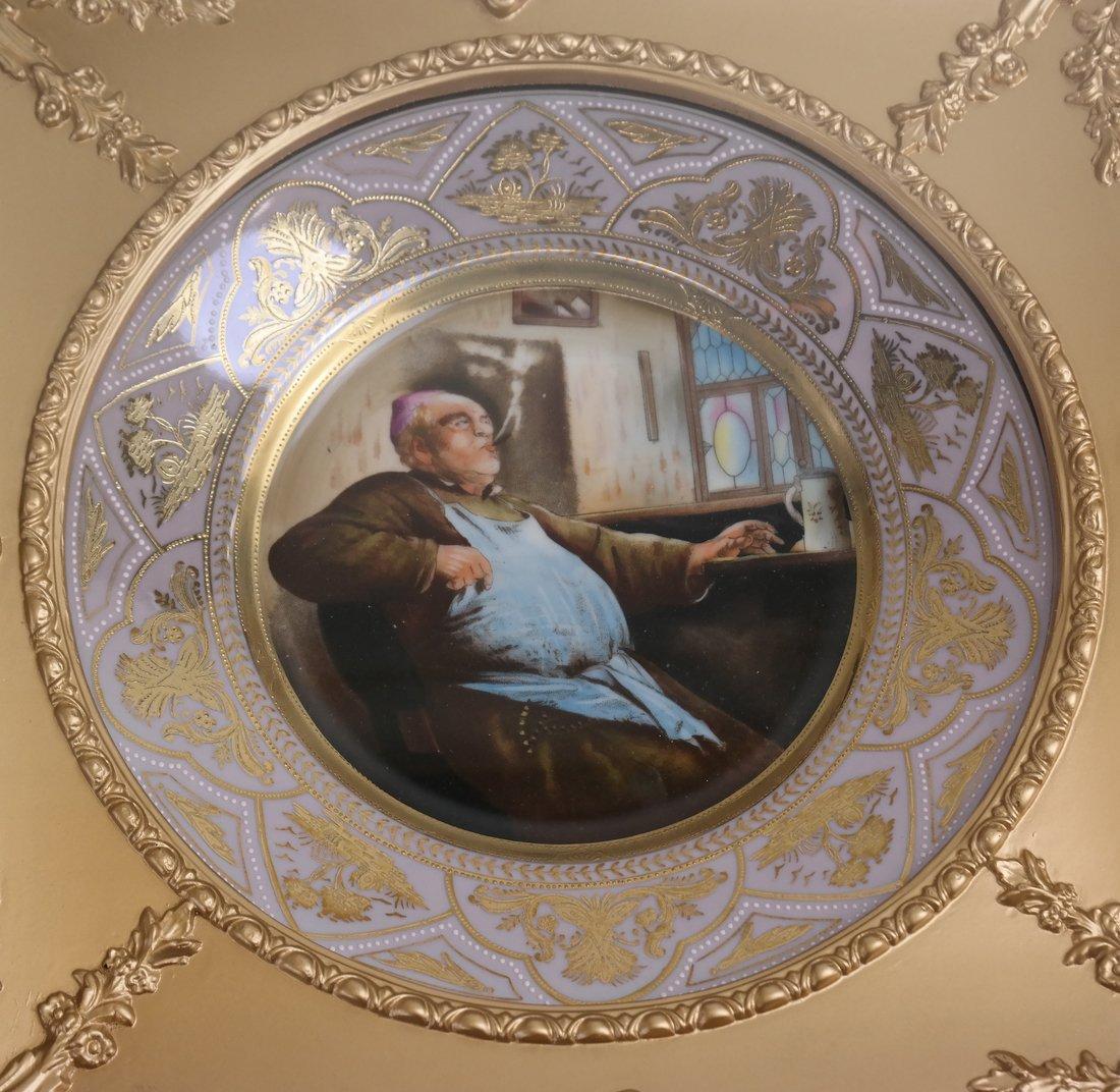 2 Vienna Style Porcelain Framed Plates - 2