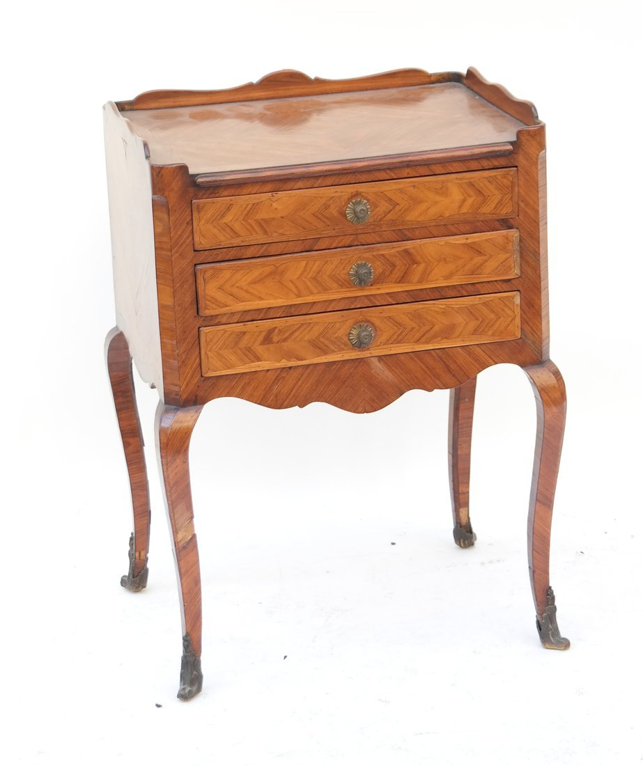 Louis XV-Style Three-Drawer Stand