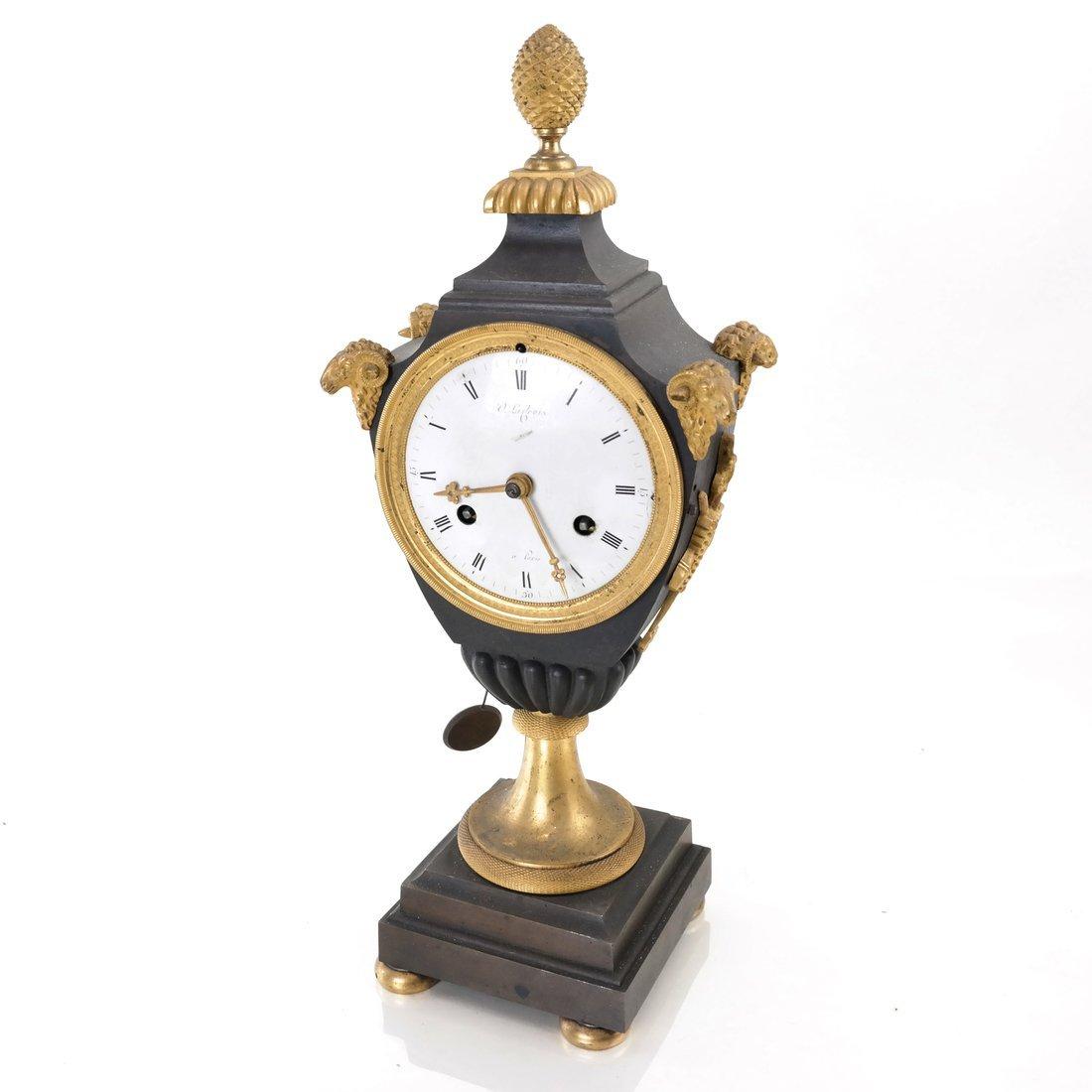 French Empire Bronze Dore Clock
