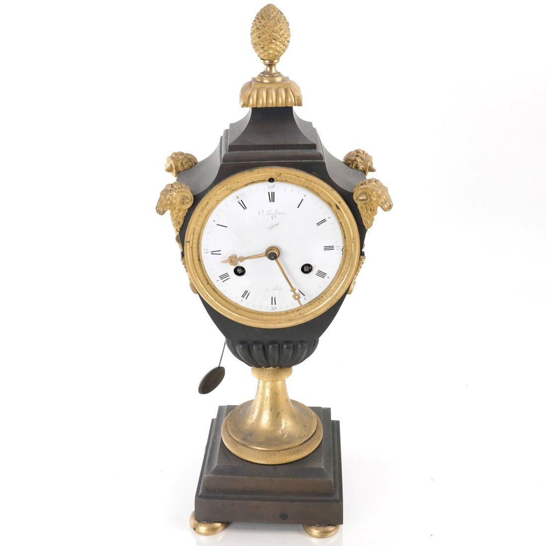 French Empire Bronze Dore Clock - 2