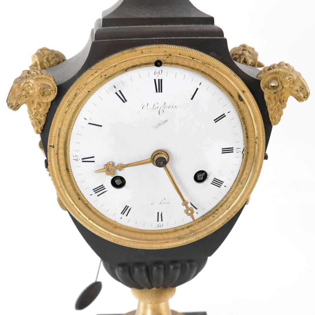 French Empire Bronze Dore Clock - 3