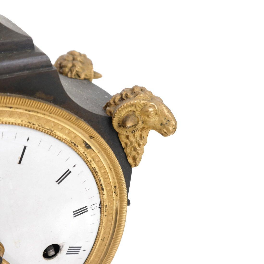 French Empire Bronze Dore Clock - 8