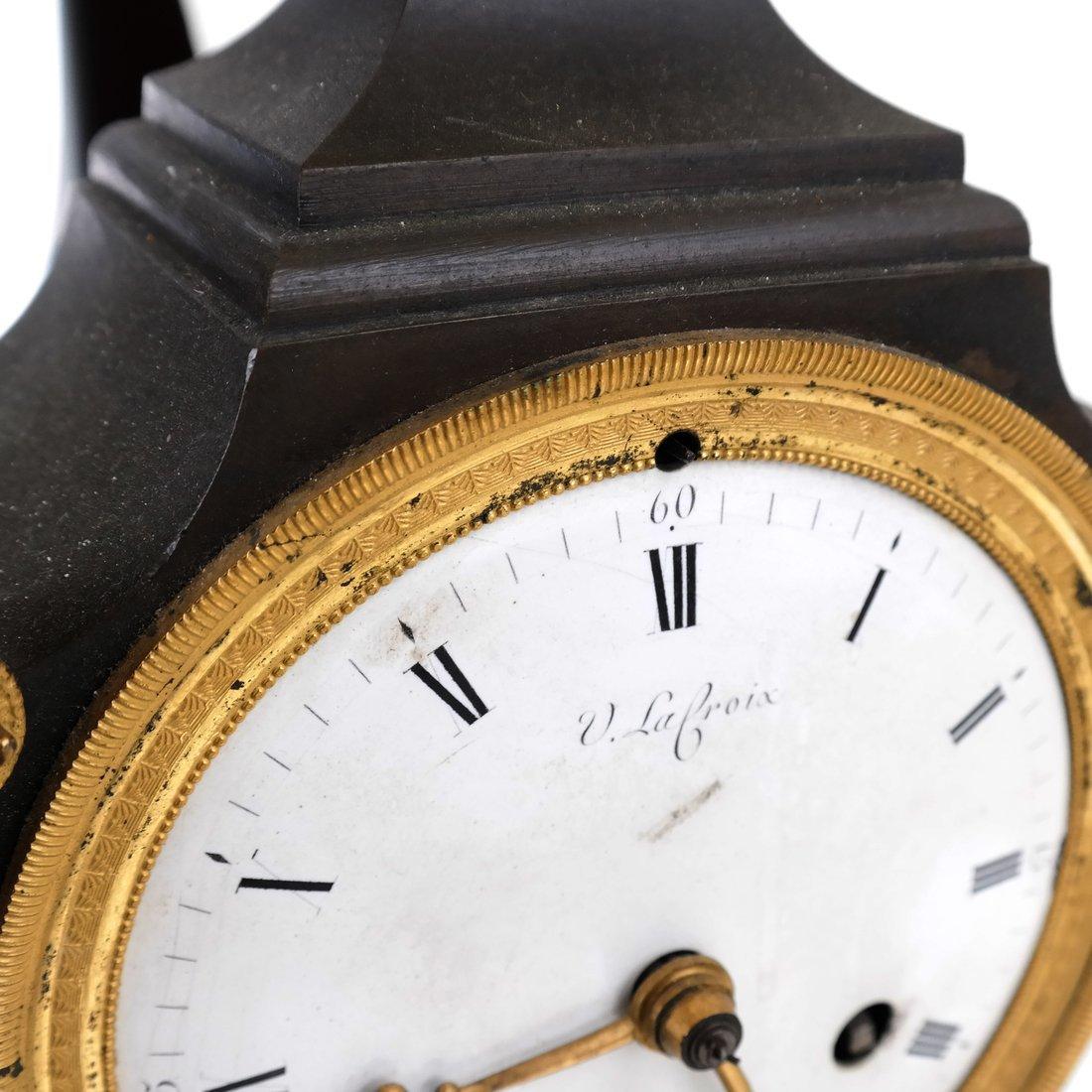 French Empire Bronze Dore Clock - 9