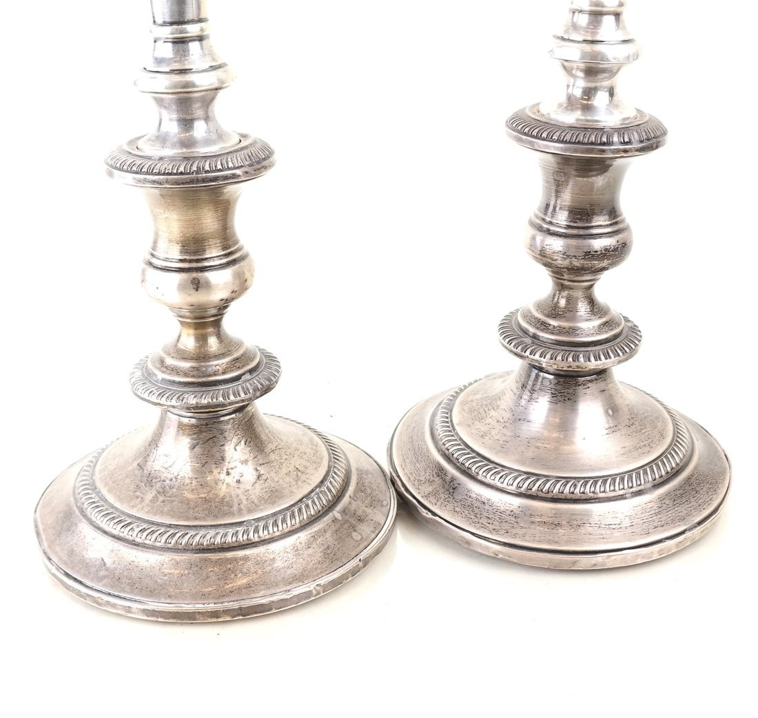 Pair of Sterling Three-Light Candelabra - 4