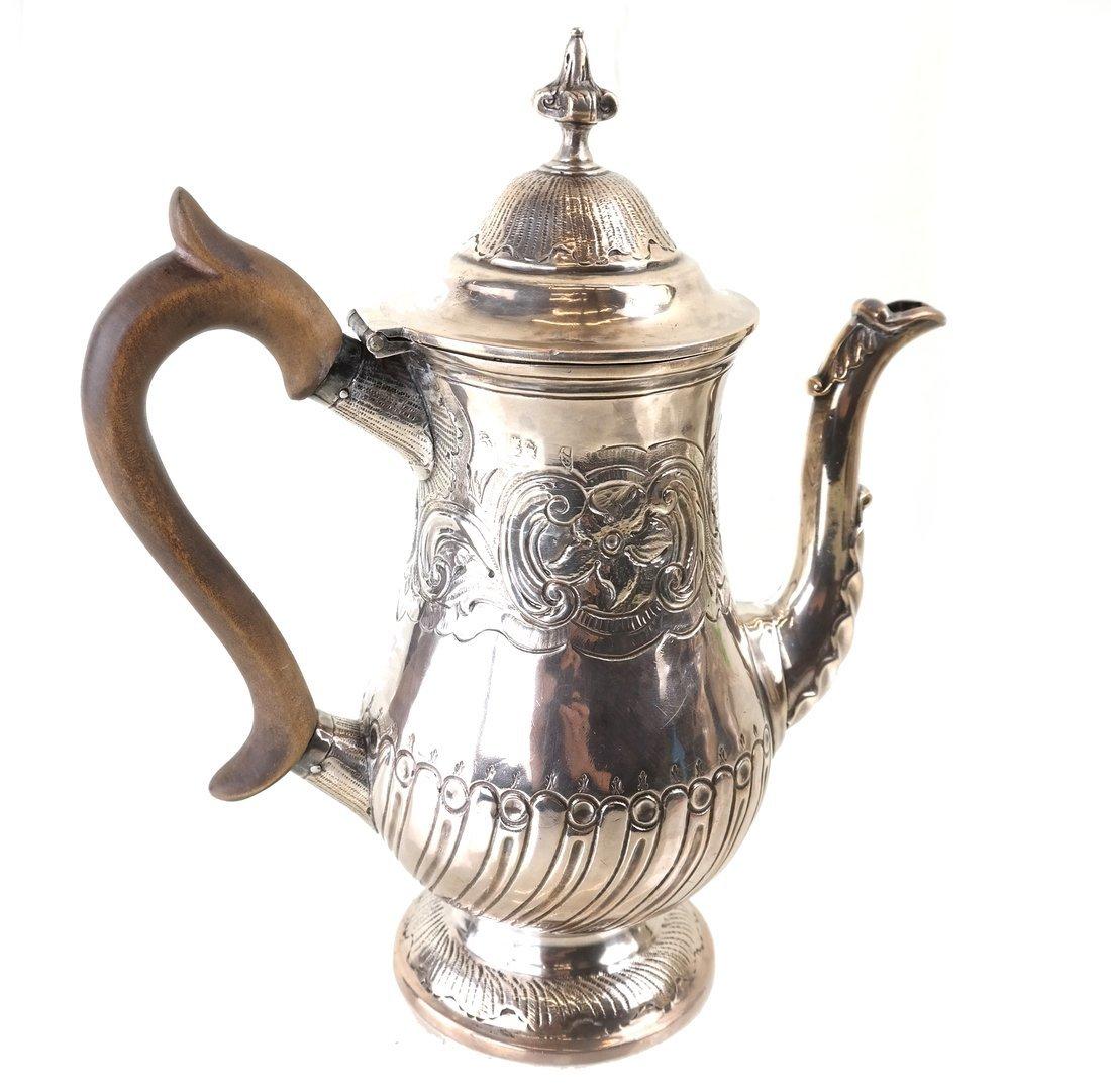 Queen Anne Britannia Silver Coffee Pot