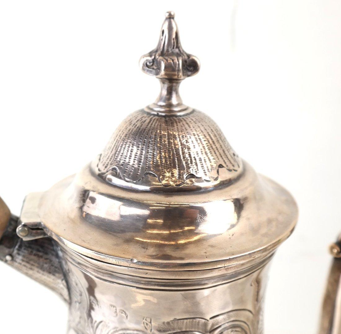 Queen Anne Britannia Silver Coffee Pot - 2
