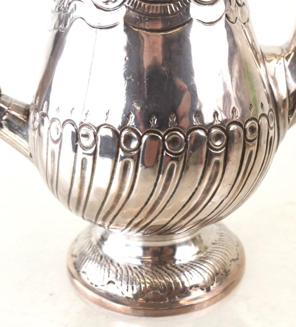 Queen Anne Britannia Silver Coffee Pot - 3