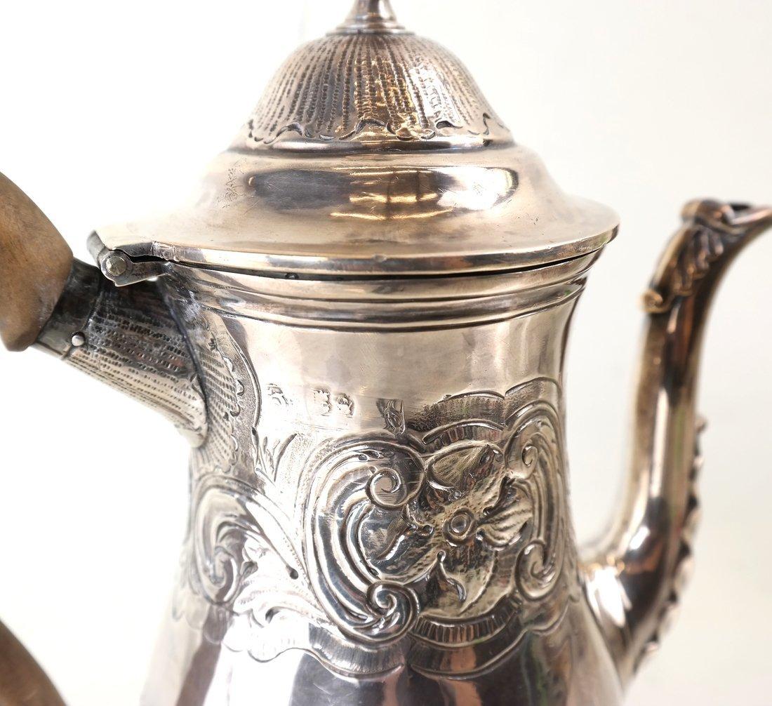 Queen Anne Britannia Silver Coffee Pot - 6