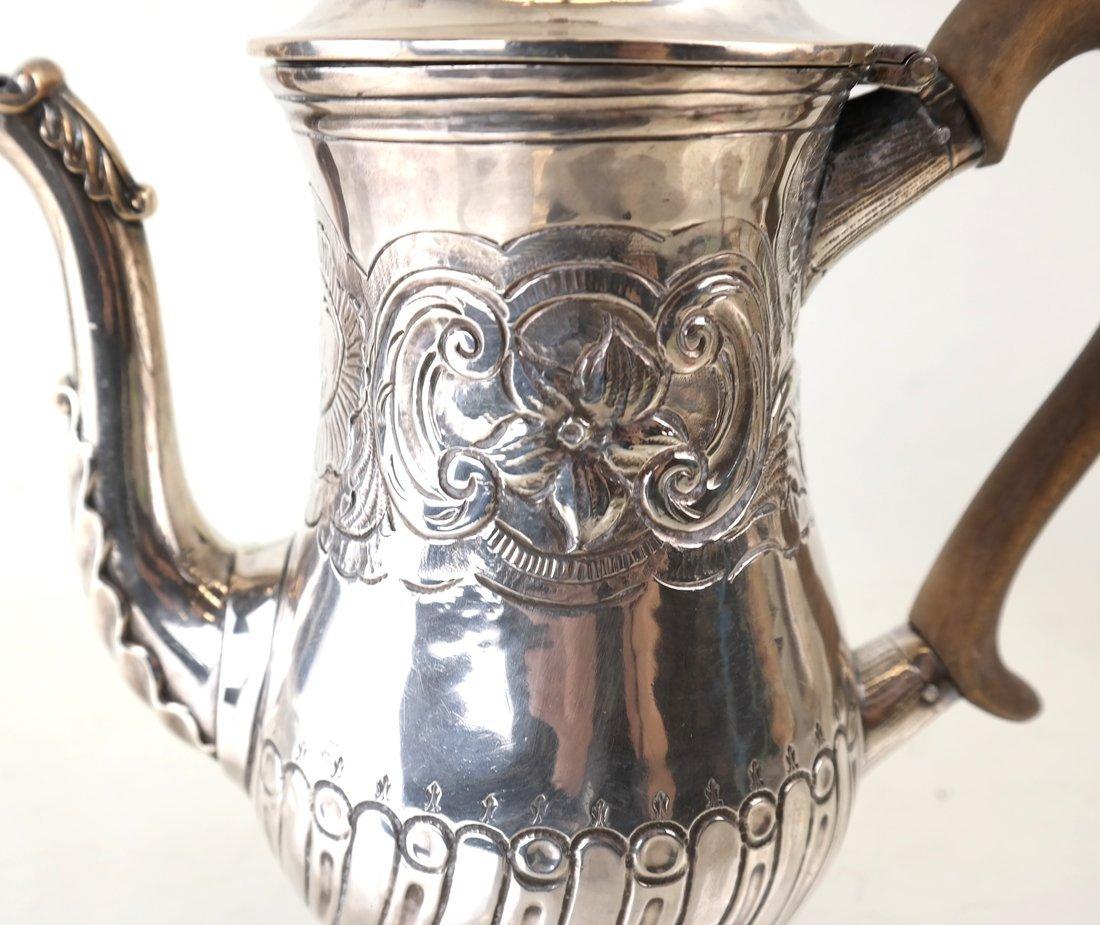 Queen Anne Britannia Silver Coffee Pot - 7