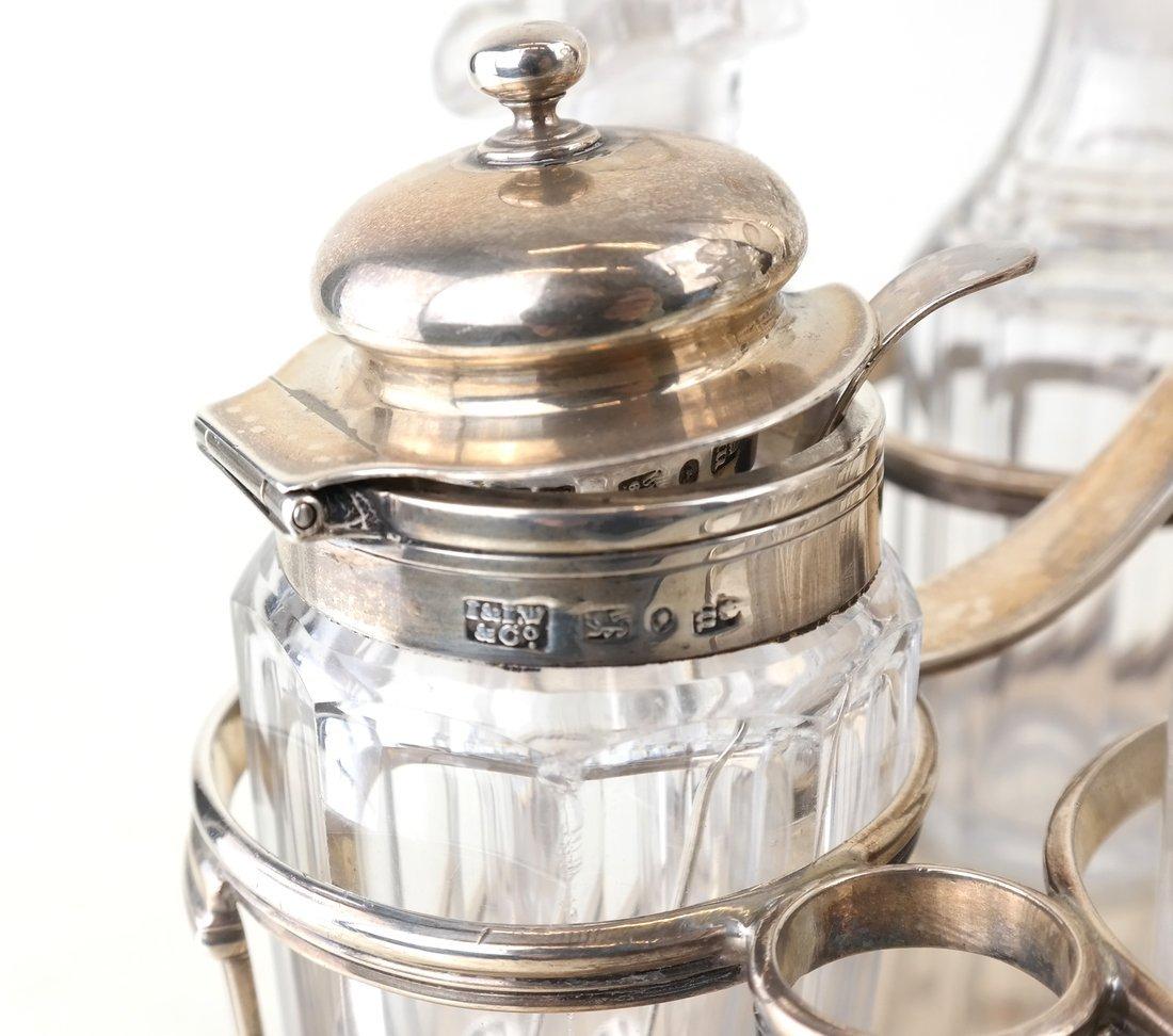 George III Sterling Toast Rack & Cruet - 5