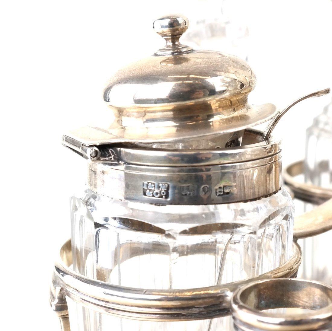 George III Sterling Toast Rack & Cruet - 6
