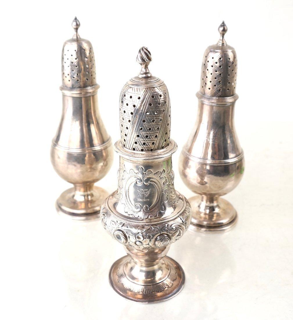 Three George III Sterling Casters - 8