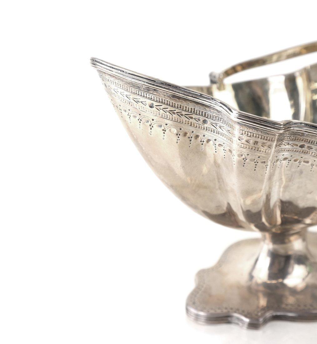 George III Silver Sugar Basket & Creamer - 3