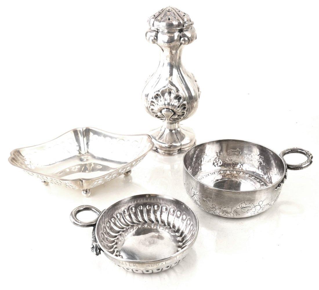George III Silver Sugar Basket & Creamer - 4