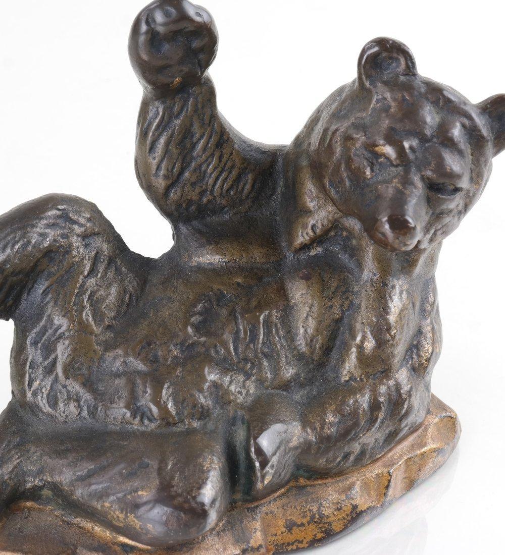 Three Cast Metal Bear Figures - 10