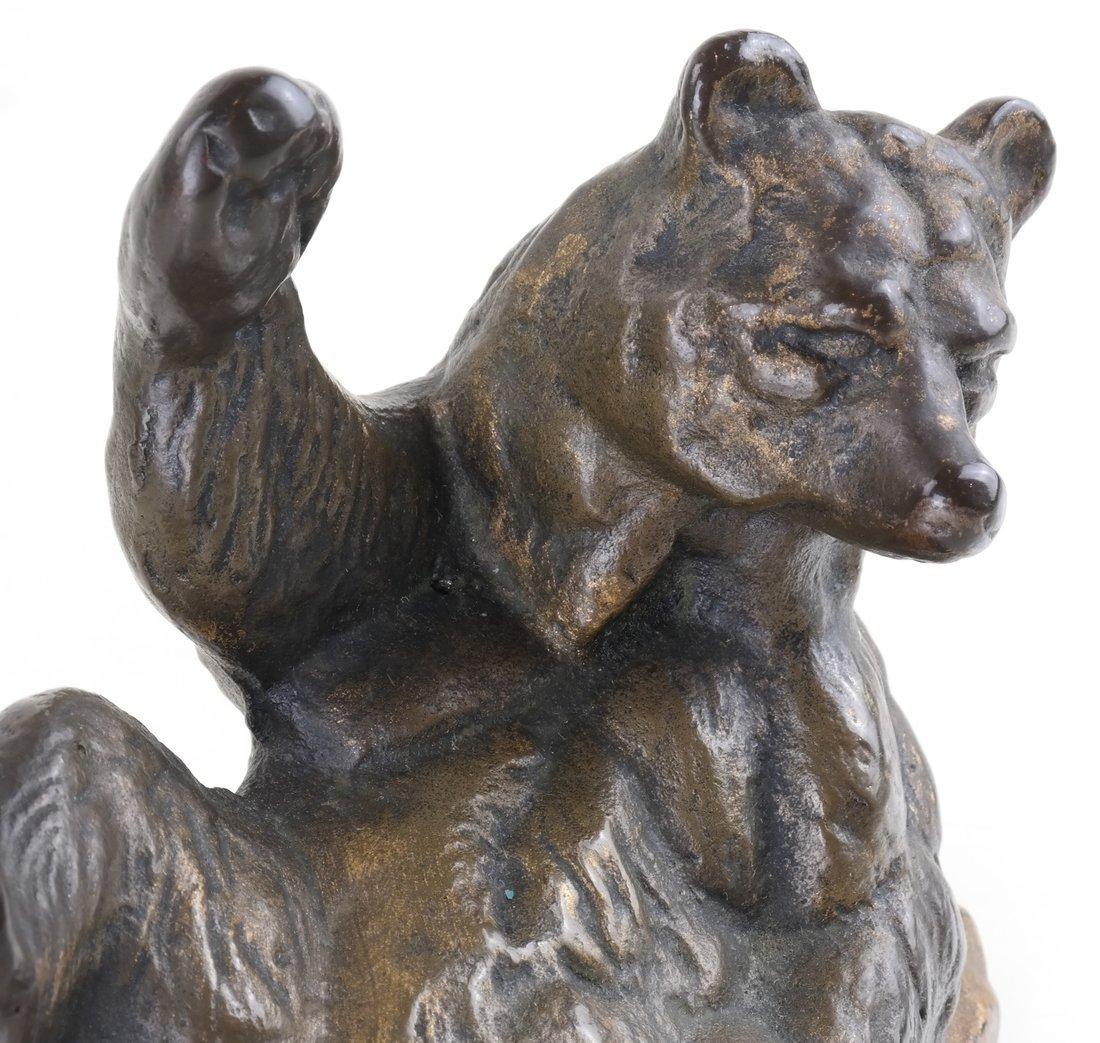 Three Cast Metal Bear Figures - 2