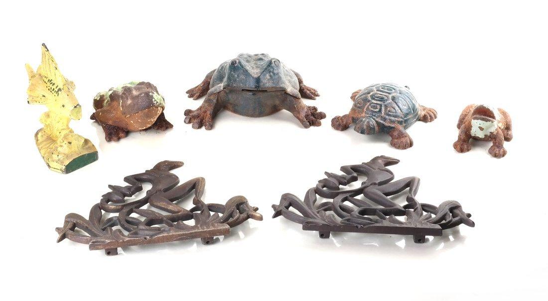 Seven Cast Metal Aquatic Figures