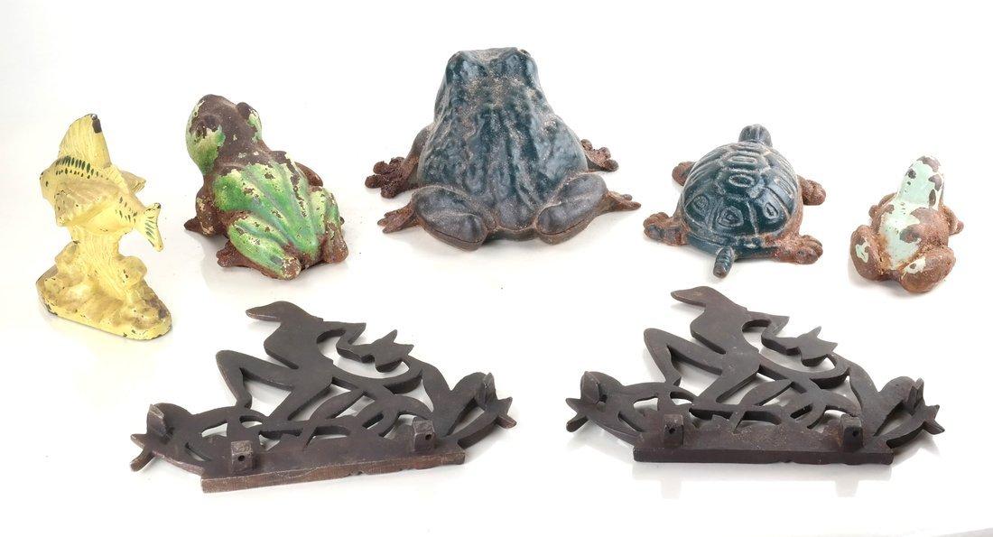 Seven Cast Metal Aquatic Figures - 2