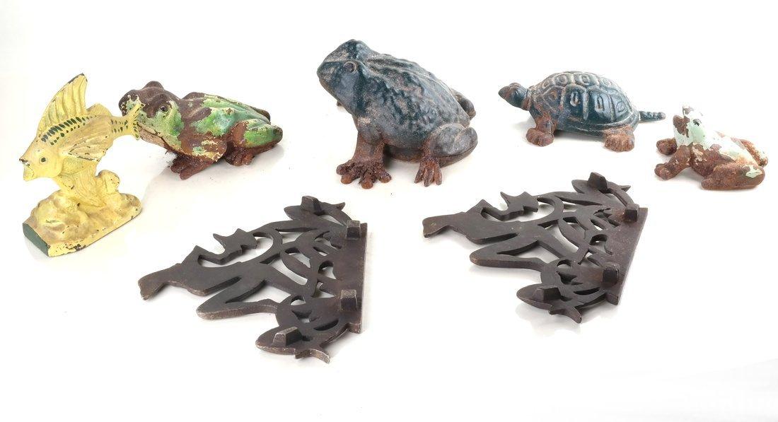 Seven Cast Metal Aquatic Figures - 3