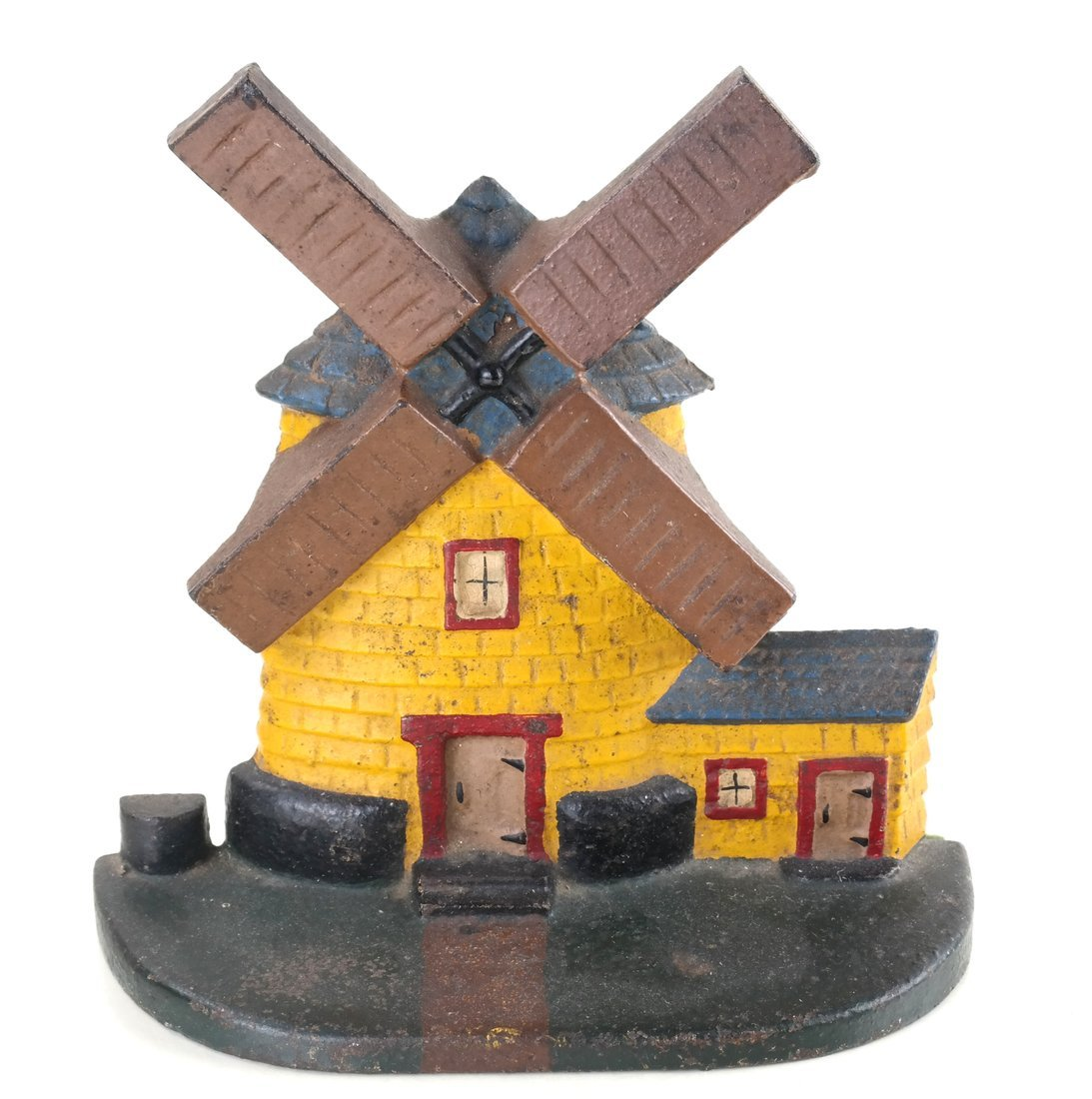 Painted Cast Iron Windmill Doorstop