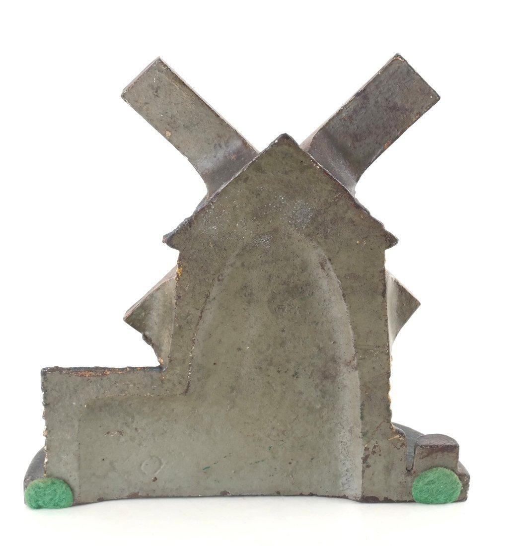 Painted Cast Iron Windmill Doorstop - 2
