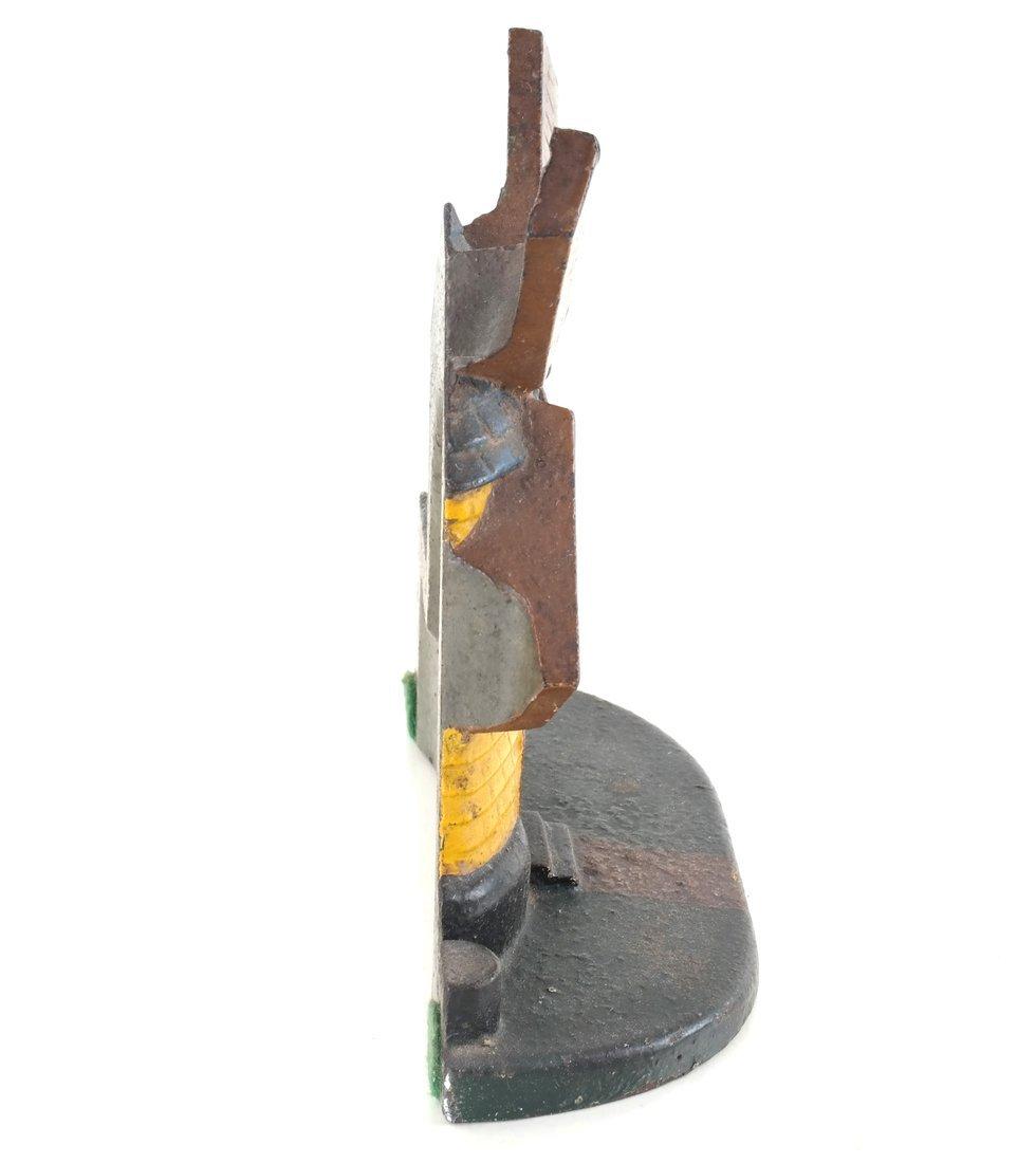 Painted Cast Iron Windmill Doorstop - 3