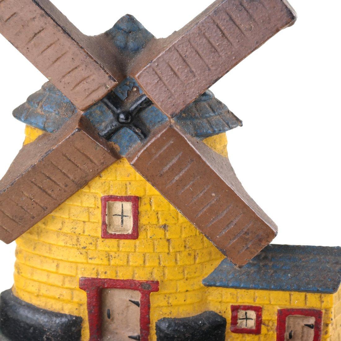 Painted Cast Iron Windmill Doorstop - 6