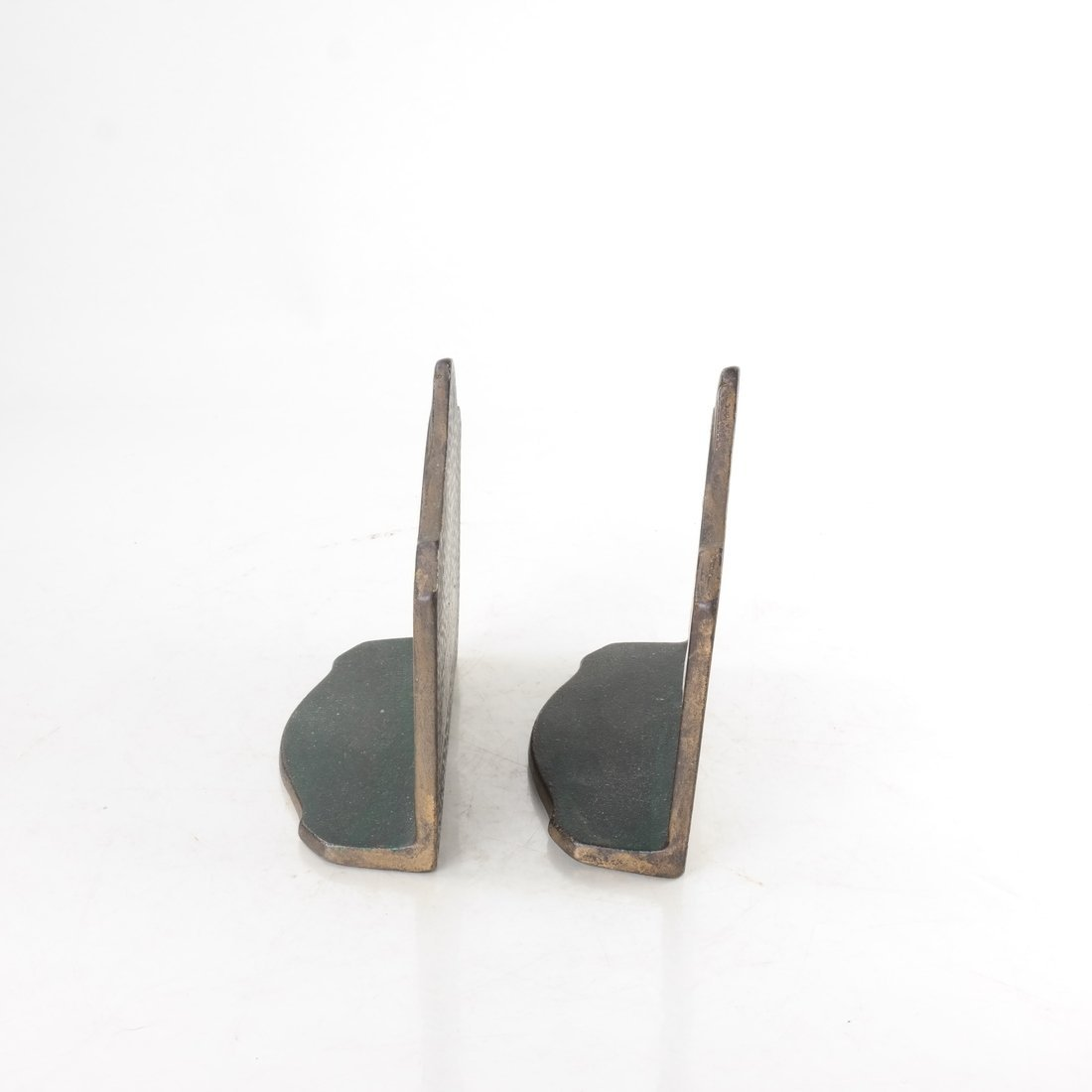 Two Painted Cast Iron Bookends - 4
