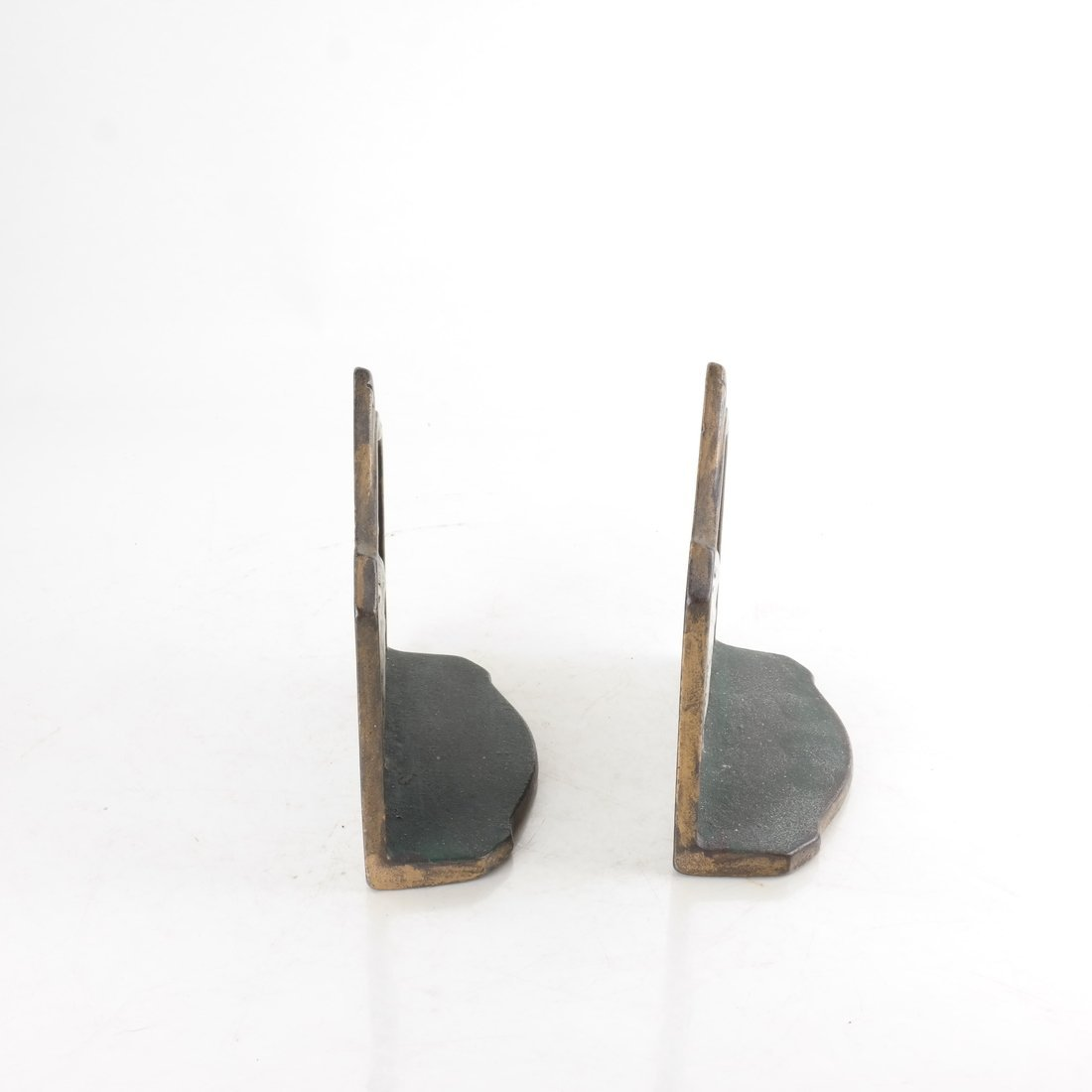 Two Painted Cast Iron Bookends - 5
