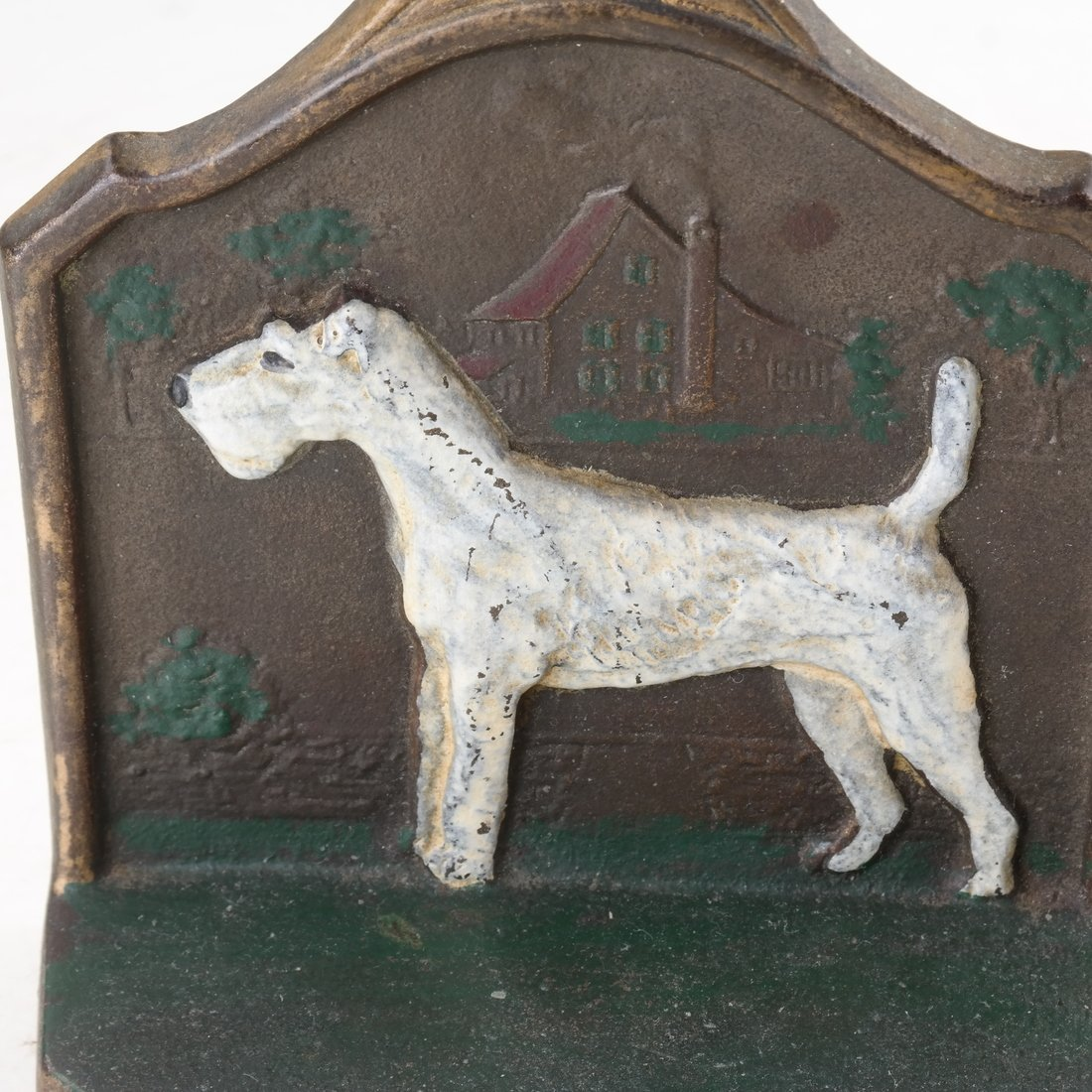 Two Painted Cast Iron Bookends - 8
