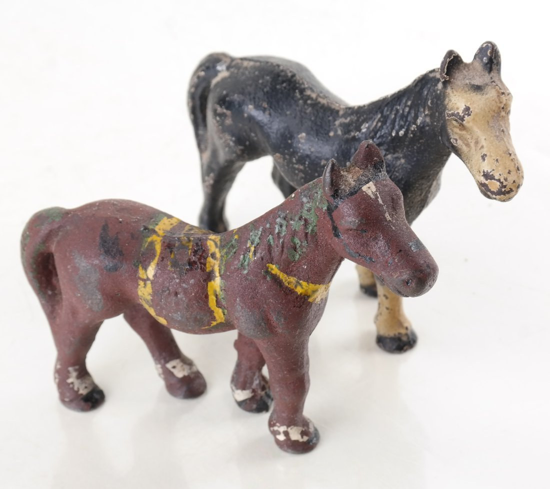 Six Painted Cast Iron Animal Party Favors - 2