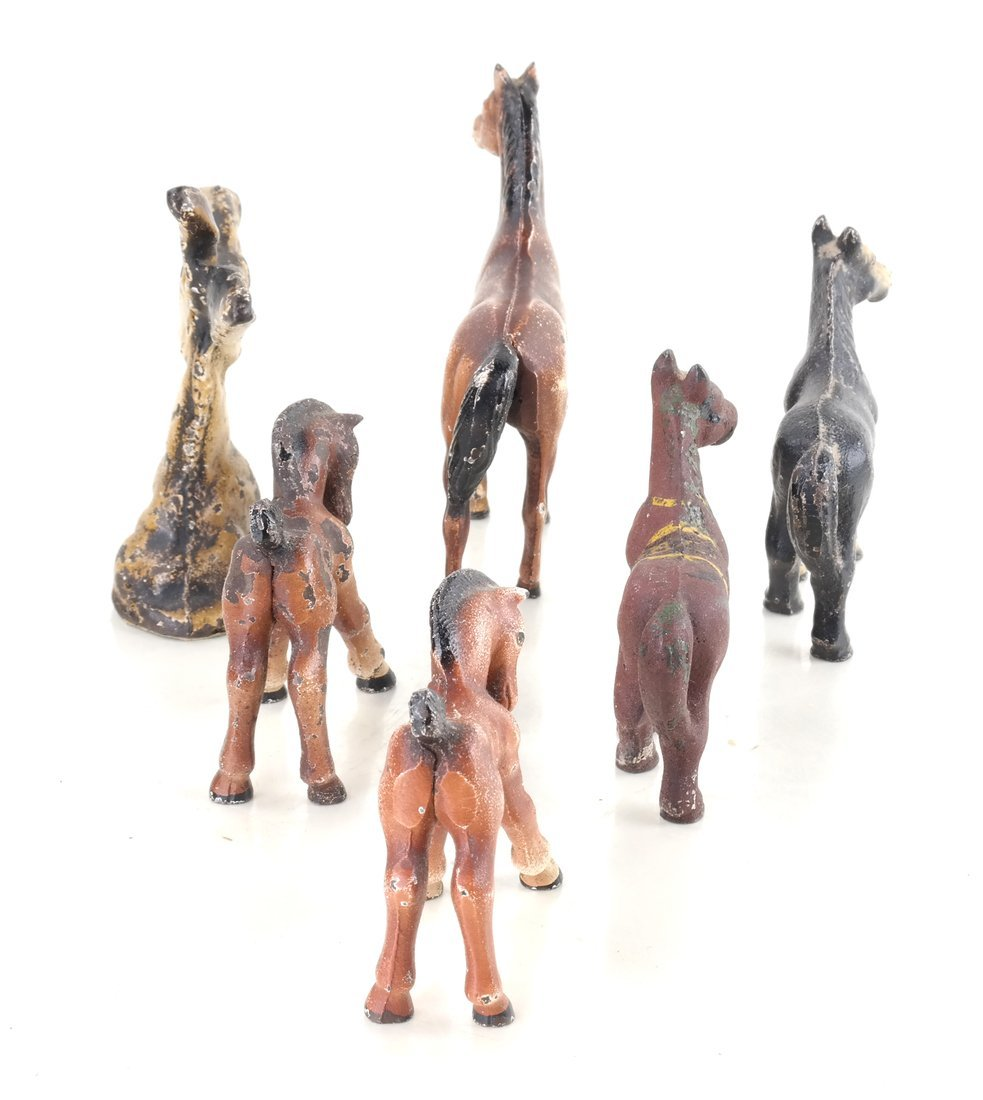 Six Painted Cast Iron Animal Party Favors - 5