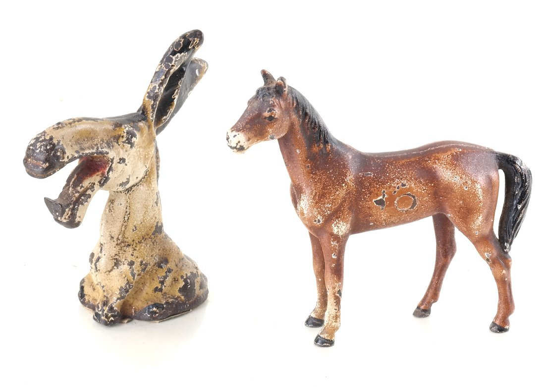Six Painted Cast Iron Animal Party Favors - 7