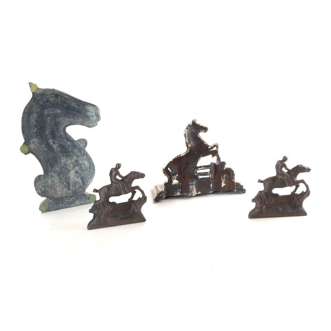 Four Cast Iron Horse Figures - 2