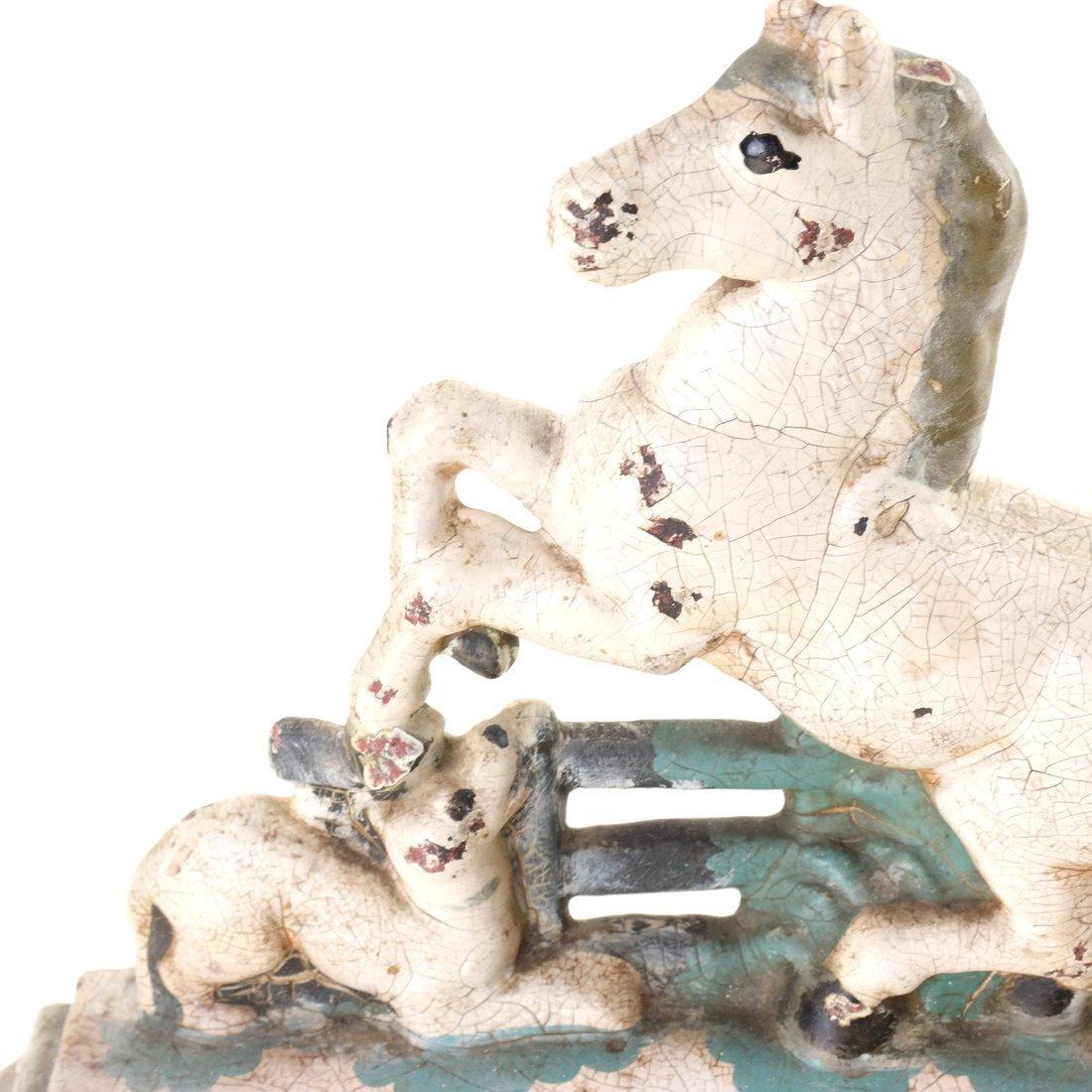 Four Cast Iron Horse Figures - 6